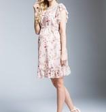 süßes Umstandskleid mit Blumen in apricot von mamaija