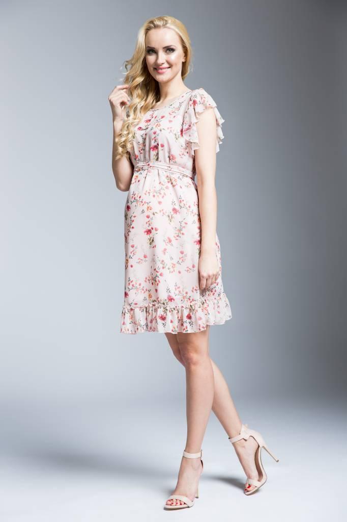 mamaija  süßes Umstandskleid mit Blumen in apricot von mamaija