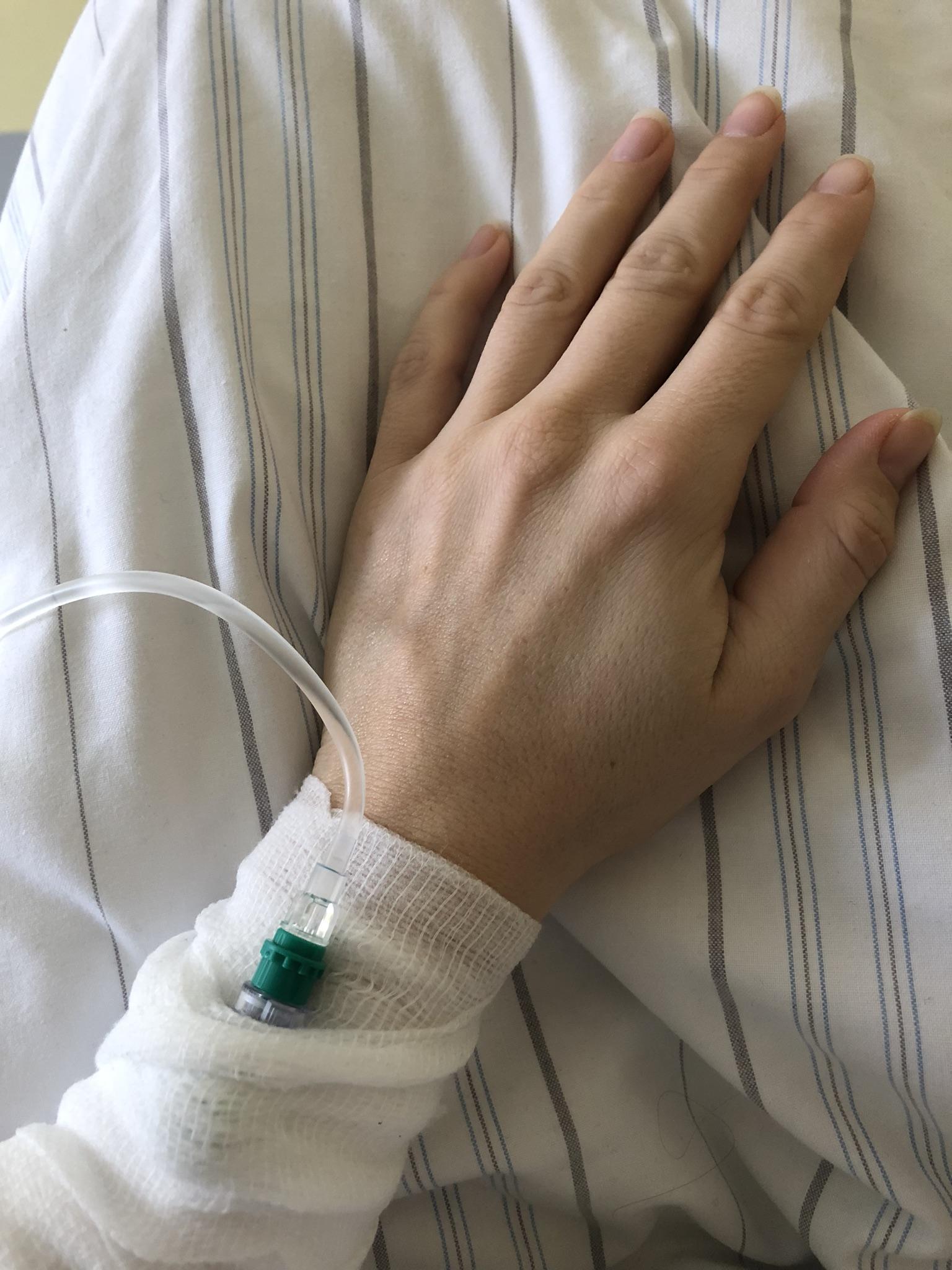Schwangerschaftsübelkeit Krankenhausinfusion