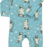 Småfolk - bunte skandinavische Mode süßer Spieler/Overall mit snowboardenden Eisbären von Smafolk