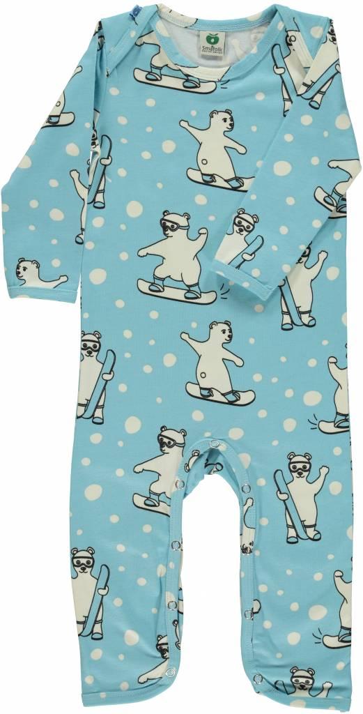 süßer Spieler/Overall mit snowboardenden Eisbären von Smafolk