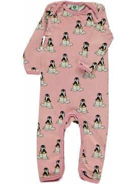 Småfolk - bunte skandinavische Mode Strampler Spieler Pinguin rosa