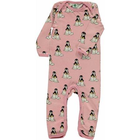 Småfolk - bunte skandinavische Mode süßer Spieler/Overall mit Pinguine in rosa von Smafolk