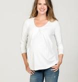 Love2Wait weißes, Basic Umstandsshirt mit Stillfunktion Tencel® von Love2Waitlangarm