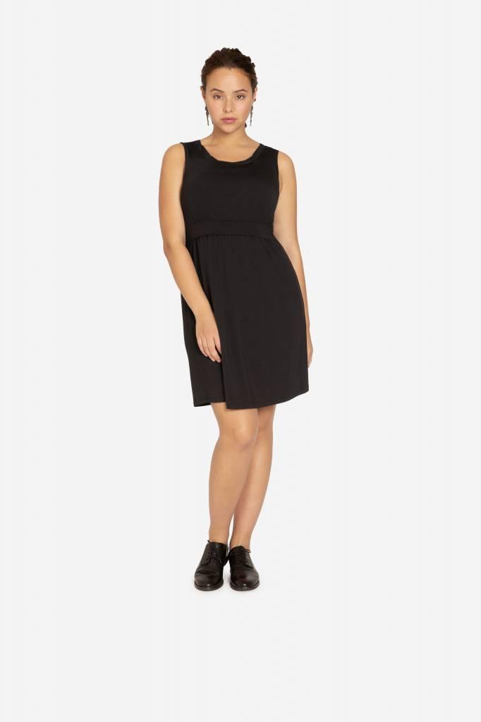 schwarzes Stillkleid Umstandskleid aus Bambus von Milker Nursing - Copy