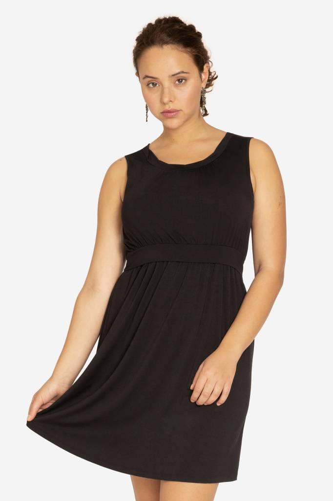 Milker Nursing schwarzes Stillkleid Umstandskleid aus Bambus von Milker Nursing - Copy