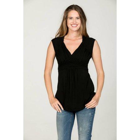 Love2Wait schwarzes, festliches Umstandsshirt mit Stillfunktion mit Spitze Tencel® von Love2Wait