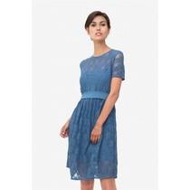 Stillkleid Umstandskleid Spitze blau