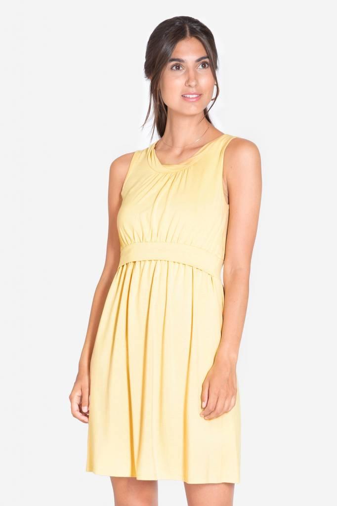 gelbes Stillkleid Umstandskleid aus Bambus von Milker Nursing