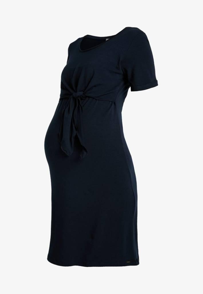 dunkelblaues Umstandskleid Knoten BIO GOTS von Love2Wait