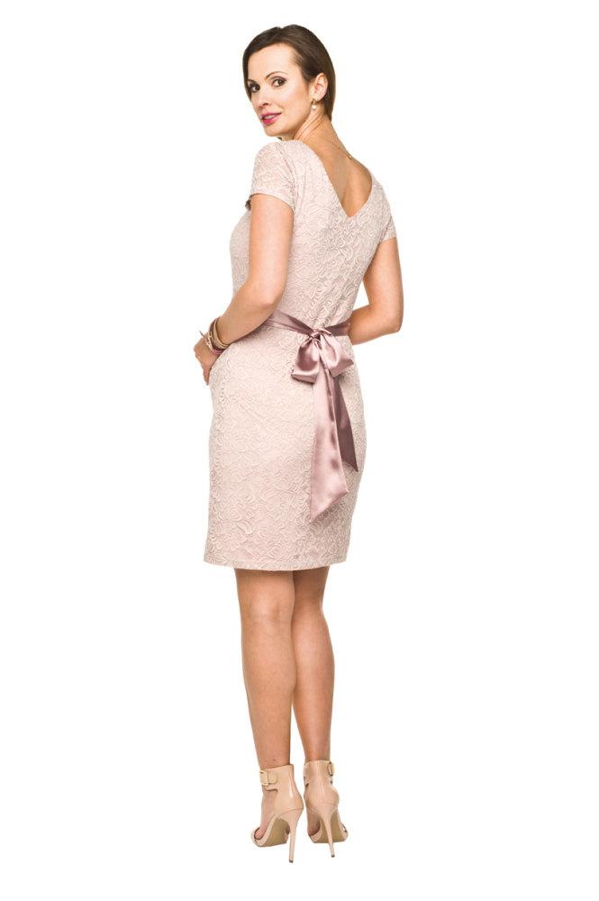 Umstandskleid Spitze rosa von Torelle