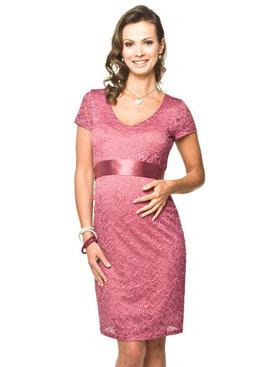 Torelle Umstandskleid Spitze pink