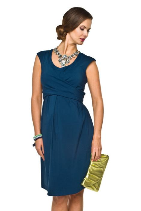 Torelle blaues Umstandskleid mit Stillfunktion von Torelle