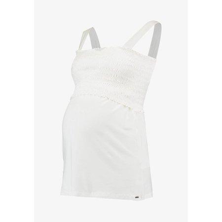Love2Wait weißes Umstandsshirt Stillshirt Smoked BIO von Love2Wait