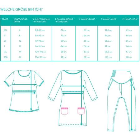 Milker Nursing blaues Stillkleid Umstandskleid mit Unterkleid aus Bambusfaser und darüber feine Spitze von Milker Nursing