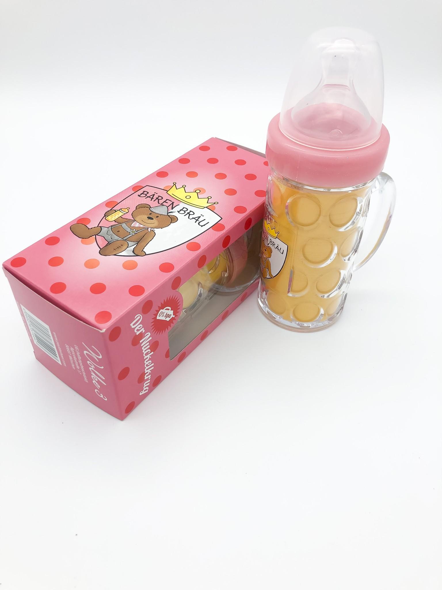 Bierkrug für Babys in rosa von Paul der Bär