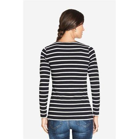Milker Nursing Umstandsshirt Stillshirt schwarz gestreift von Milker Nursing