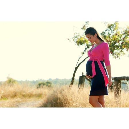 Victoria Grace schönes Umstandskleid mit Stillfunktion in 3 verschiedenen Farben mit Gürtel von Victoria Grace