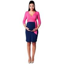 Umstandskleid Stillkleid 3farbig pink