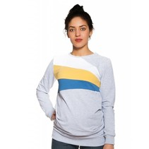 Umstandssweatshirt Stillsweatshirt Streifen