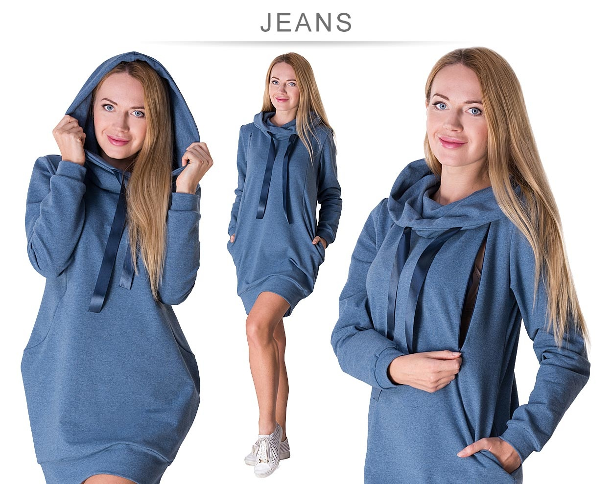Umstandssweatshirt Stillsweatshirt blau