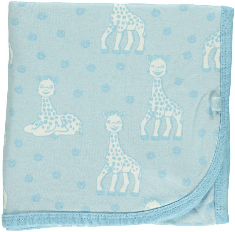 Småfolk - bunte skandinavische Mode Babydecke Sophie la girafe blau Bio von Smafolk