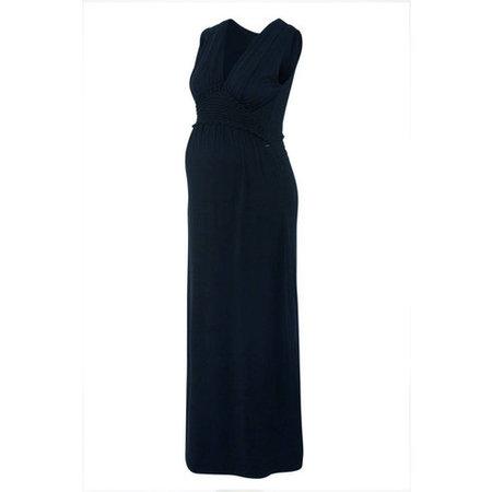Love2Wait blaues Maxi Umstandskleid aus Tencel® von Love2Wait