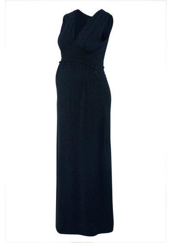 Love2Wait blaues Maxi Umstandskleid aus GOTS zertifizierten Tencel® von Love2Wait