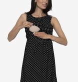 Milker Nursing schwarz weiß gepunktetes Stillkleid Umstandskleid aus Bambus von Milker Nursing