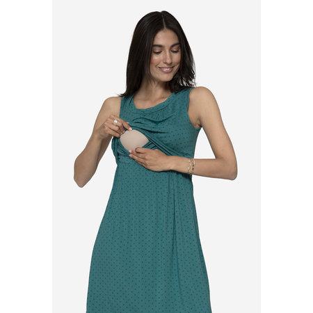 Milker Nursing grün gepunktetes Stillkleid Umstandskleid aus Bambus von Milker Nursing