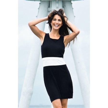 Milker Nursing schwarz weißes Stillkleid Umstandskleid aus Bio Baumwolle