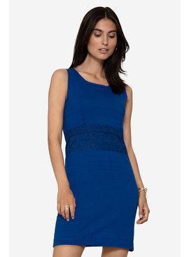 Milker Nursing Blaues Umstandskleid Stillkleid mit Glitzer