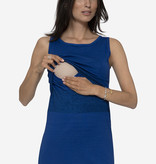 Milker Nursing blaues Stillkleid Umstandskleid aus Bio Baumwolle