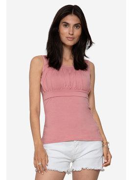 Milker Nursing Umstandsshirt Stillshirt rosa Bambus