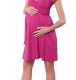Victoria Grace schönes magentafarbenes Umstandskleid mit Stillfunktion mit Gürtel von Victoria Grace