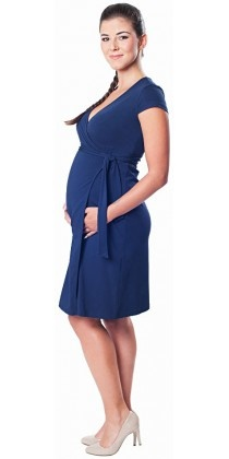 Victoria Grace Wickelkleid für die Schwangerschaft mit Stillfunktion in navy von Victoria Grace