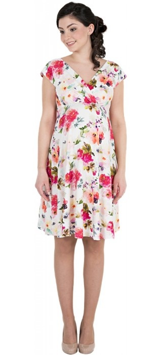 Victoria Grace schönes Umstandskleid mit Stillfunktion  mit floralem Muster von Victoria Grace
