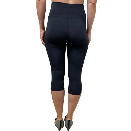 Dunkelblaue 3/4 Umstandsleggings made in Italy