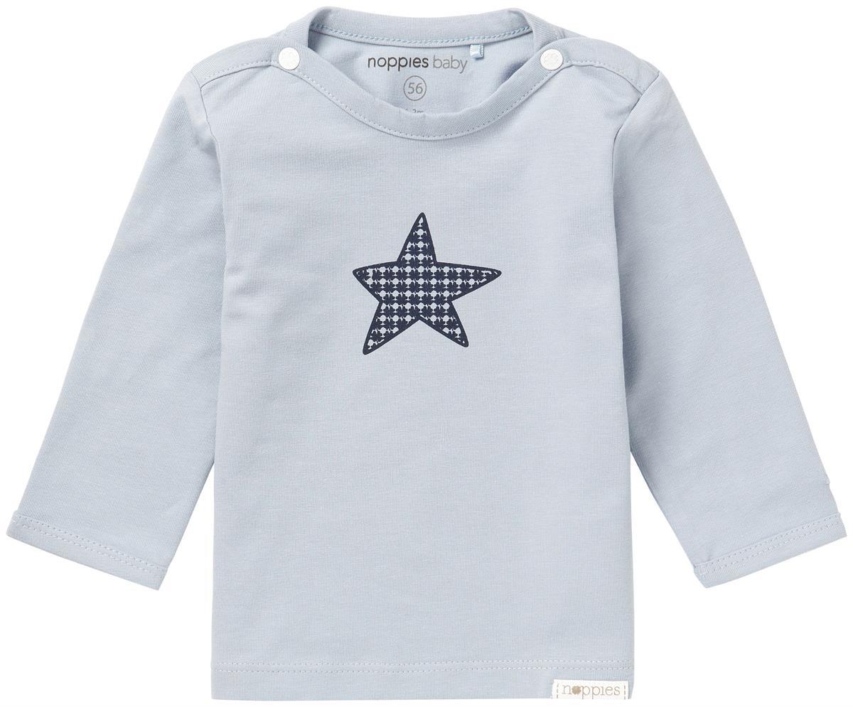 noppies hellblaues Babyshirt mit Stern aus GOTS zertifizierter Baumwolle von noppies