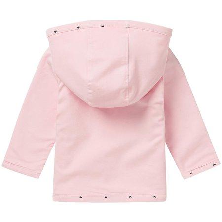 noppies Cardigan, Sweatweste rosa  mit Herzchen in Bio Baumwolle von noppies