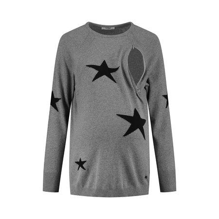 Love2Wait Umstandssweatshirt Stillsweatshirt Sterne  von Love2Wait