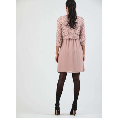 Attesa hochwertiges rosafarbenes Umstandskleid mit Stillfunktion mit Spitze von Attesa