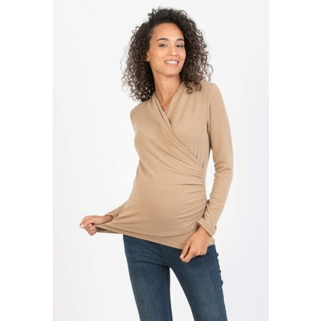 Attesa camel farbense Umstandsshirt Stillshirt von Attesa