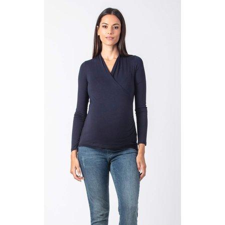 Attesa dunkelblaues Umstandsshirt Stillshirt von Attesa
