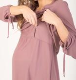 Attesa Umstandsbluse Blusenshirt rosa von Attesa
