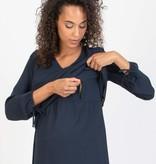 Attesa Umstandsbluse Blusenshirt dunkelblau von Attesa