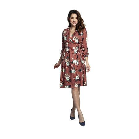 Torelle Umstandskleid Stillkleid braun floral von Torelle