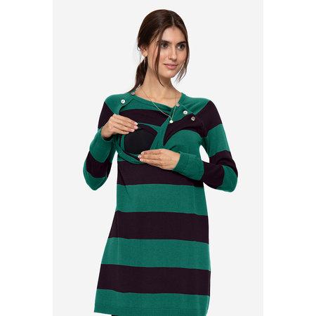 Milker Nursing grün blau gestreiftes Umstandskleid mit Stillfunktion aus Wolle von Milker Nursing - Copy