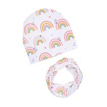 Mütze Halstuch Set Regenbogen