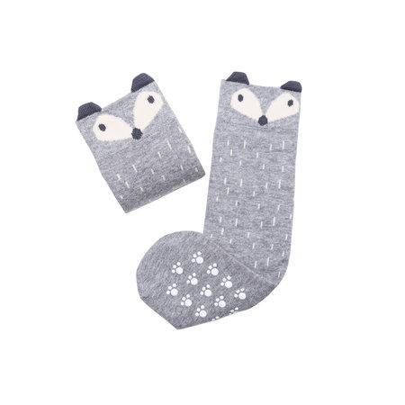 Mamas Feet Stoppersocken Fuchs grau Baby & Mama von Mamas Feet